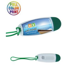 "Full Color ""Oval Shaped"" Luggage Tag"
