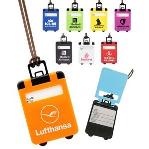 Suitcase Shaped Luggage Tag with Pop Up Cover