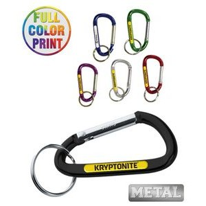 6mm Metal Carabiner Keychain - Full Color