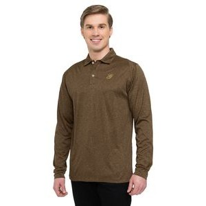 Men's Tri-Mountain Gold™ Gallant Heather Long Sleeve Jersey Polo