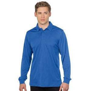 Men's Tri-Mountain Performance® Stalwart Long Sleeve Polo