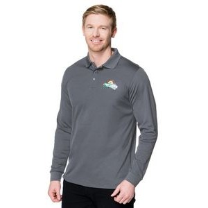 Tri-Mountain® Vital Long Sleeve Snap Polyester Polo Shirt