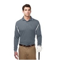 Men's Tri-Mountain Performance® Action Long Sleeve Colorblock Polo