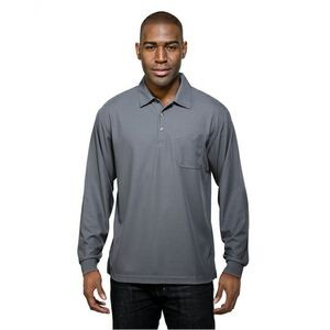 Men's Tri-Mountain Performance® Endurance Pocket Long Sleeve Polo