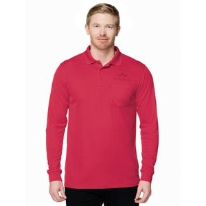 Men's Tri-Mountain Performance® Vital Pocket Long Sleeve Performance Polo