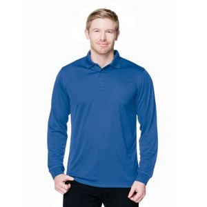 Men's Tri-Mountain Performance® Vital Long Sleeve Performance Polo