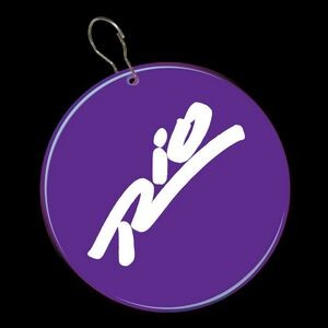 "2 1/2"" Purple Plastic Medallion Badge"