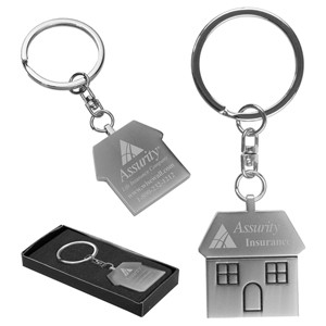 """The Cottage"" Laser Engraved Metal Pull-Apart Key Chain (Overseas)"