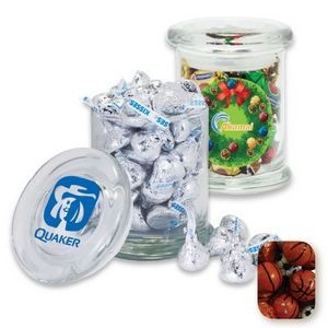 Air Tight Gourmet Glass Jar Filled w/ Chocolate Sports Balls