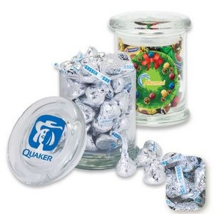 Gourmet Glass Jar Filled w/ Wrapped Hershey Kisses