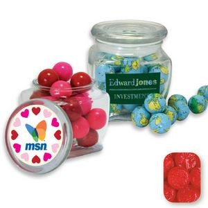 Reusable Glass Spice Jar Filled w/ Red Raspberry Dollars