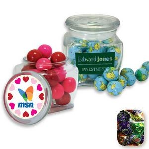 Reusable Glass Spice Jar Filled w/ Fruit Filled Wrapped Candy