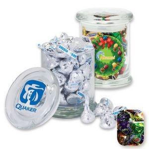 Air Tight Gourmet Glass Jar Filled w/ Fruit Filled Wrapped Candy