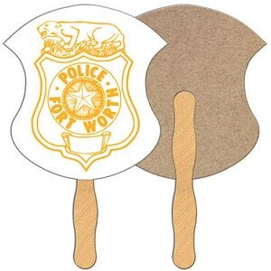 Badge Recycled Hand Fan