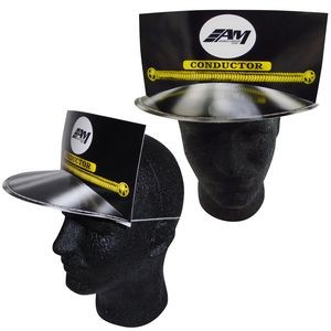 Train Conductor Paper Hat w/ Elastic Band & Stock Graphic
