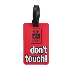 Don't Touch! Luggage Tag- Red