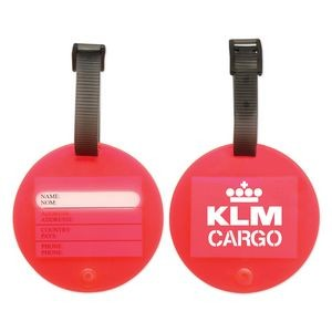 Red Circle Luggage Tag