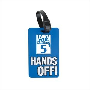 Hands Off! Luggage Tag- Blue