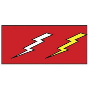 "Novelty Strong Band Pre-Printed Lightning Bolts Wristband (3/4"")"
