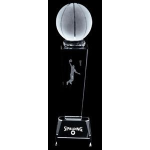 3D Basketball Crystal Sport Trophy