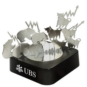 Bull & Bear Magnetic Sculpture Block