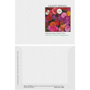 Impression Series Zinnia, California Giant Flower Seeds - Digital Print/ Front & Back Imprint