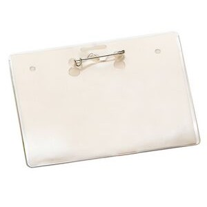 "Small Horizontal Vinyl Pouch w/ Pin - 3 3/8""x4 3/16"""