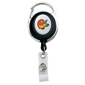 Imported Oval Carabiner Metal/Plastic Retractable Badge Reel