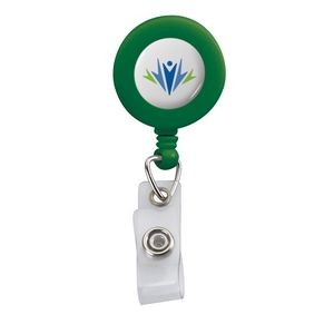 Retractable Badge Reel w/ Bulldog Clip