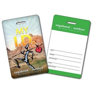 14 Pt. Laminated Plastic ID/Wallet Card w/Punch