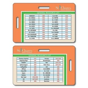 14 Pt. Laminated Plastic Double-Punch ID/Wallet Card