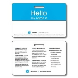 14 Pt. Laminated Plastic ID/Wallet Card with Punch