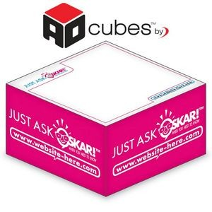 Ad Cubes™ ½-Cube 2-Color Memo Note Notepad