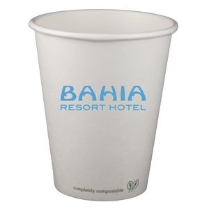 8 Oz. Eco-Friendly Compostable Paper Hot Cup - OFFSET PRINTED