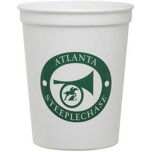 16 Oz. White Plastic Stadium Cup (QuickShip)