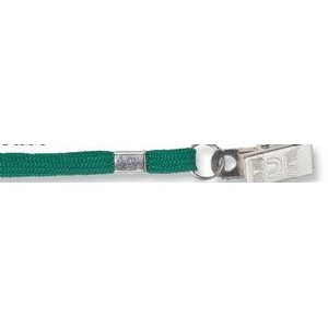 "Stock Flat Nylon Breakaway Lanyard with Bulldog Clip (3/8""x36"")"