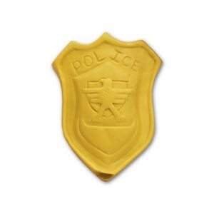 Police Badge Stock Shape Pencil Top Eraser