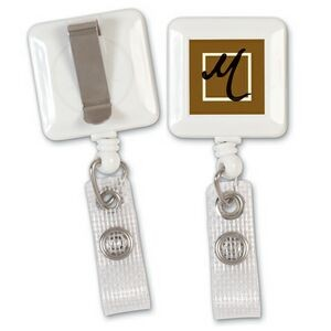 "Square Badge Reel (1 1/4"")"