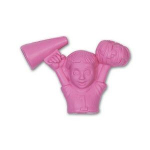 Cheerleader Stock Shape Pencil Top Eraser