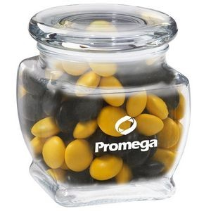 Footed Glass Jar - Chocolate Buttons (10 Oz.)