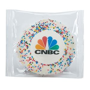 Custom Sugar Cookie w/ Rainbow Sprinkles
