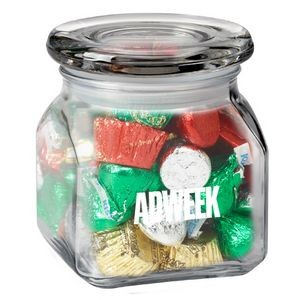 Contemporary Glass Jar - Hershey's® Holiday Mix (10 Oz.)