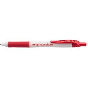 EnerGel-X® White Barrel Metal Tip Gel Ink Pen - Red