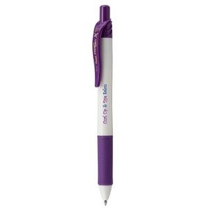 EnerGel-X® White Barrel Metal Tip Gel Ink Pen - Violet