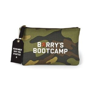 Avery Cotton Zippered Pouch Green-Camo-Brown