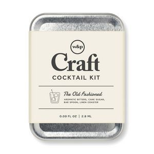 W&P Old Fashioned Carry On Cocktail Kit Grey-Silver