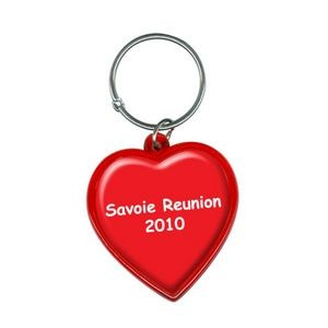 Heart Shape Acrylic Key Tag