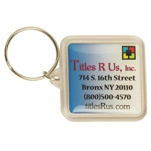 Square Acrylic Key Tag