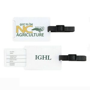 Luggage Tag w/Pull Out Identification Tab