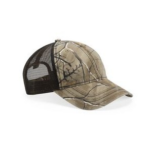 Outdoor Cap® Mesh Back Camouflage Cap w/American Flag Undervisor